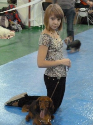 Фото сделано на всероссийской выставке в марте. Это одна из двух моих собак. - P1000001.JPG